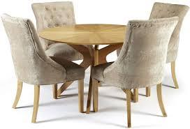 serene bexley oak round dining set with 4 hampton mink fabric chairs 120cm