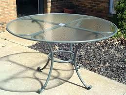 round glass table top patio with umbrella hole replacement