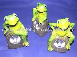 Amazoncom  Frog Solar Lights LEDu0027s Shine Through Translucent Solar Frog Lights