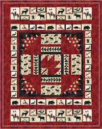 23 best Canada quilts images on Pinterest | Quilt blocks, Flag ... & Pattern (Hard Copy) to Make Oh Canada Quilt 60 x 76 Using Stonehenge Fabric Adamdwight.com