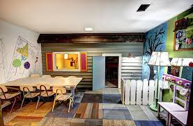 Image Finished Basement Make Smart Use Of Available Space In The Basement Decoist Basement Kids Playroom Ideas And Design Tips