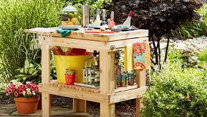 deck and patio serving table