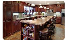 Kitchen Remodel In MN Features Large Island With Storage And Sink Delectable Kitchen Remodeling Raleigh Nc Minimalist Remodelling