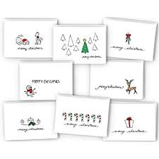 Merry Christmas Greeting Cards Collection 24 Cards Envelopes