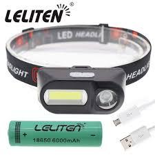 <b>Outdoor camping Portable</b> mini XPE+COB <b>LED Headlamp</b> USB ...