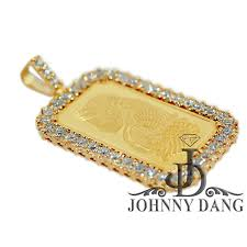 cpy0030 custom 1oz pamp suisse fine gold bar diamond frame johnny dang co