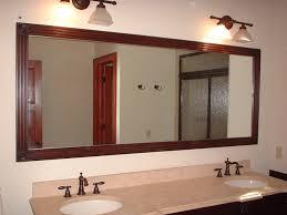 mirror with frame bathroom
