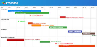 Easily Create Project Management Timelines With Preceden