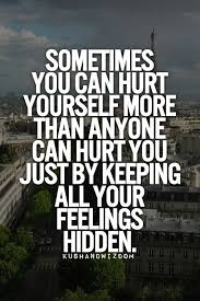 Hurting Yourself Quotes