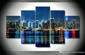tempered glass wall art arts new city printed painting on canvas room decoration elephant tempered glass wall art