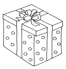 Christmas Presents With Box Coloring Page