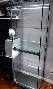 mac frameless glass display cabinet