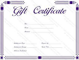 Certificate Outline Simple Purple Gift Certificate Template