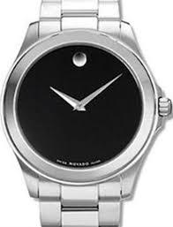 black dial quartz 0605746 movado mens wrist watch