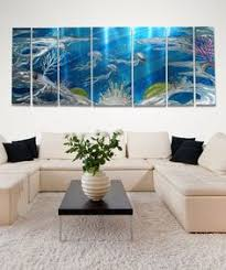 deep blue sea original blue abstract aquatic marine life metal wall art by jon allen on nature inspired wall art with 85 best nature inspired decorations images on pinterest