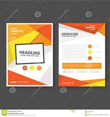 orange yellow vector leaflet brochure flyer template design book cover layout design abstract orange