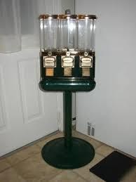 1800 Vending Candy Machines Fascinating 48 Triple Head Candy Ball Vending Machine Green Gold