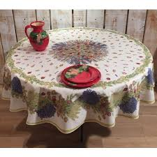 frenchictoyou le tissu provencal round tablecloth cotton rose and lavander 70 inches