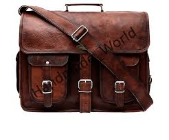 leather messenger bag 16 18 inch briefcase messenger bag brown leather with cross shoulder