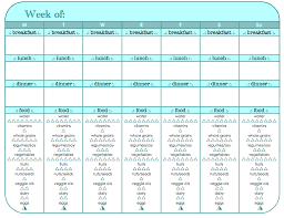Food And Exercise Trackers Food And Exercise Tracker Printable Friday Workout