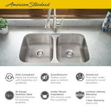 Portsmouth 32x18 Ada Double Bowl Stainless Steel Kitchen Sink