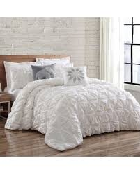 white pleated comforter. Plain Pleated Brooklyn Loom Jackson Pleat Twin XL Comforter Set In White Intended Pleated I