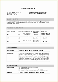 Resume Sample Form Indian Standard Resume Format Pdf Krida 19