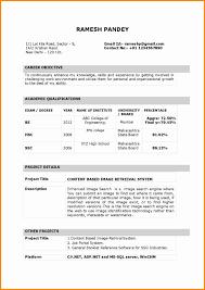 Resume Sample Form Indian Standard Resume Format Pdf Krida 19
