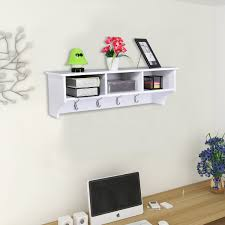 Cubby Wall Organizer With Coat Rack Costway Rakuten Costway Wall Mount Coat Rack Storage Shelf Cubby 47