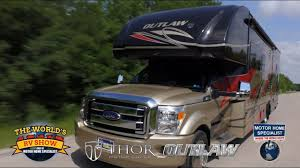 outlaw super c toy hauler rv review at motor home specialist 2016 2016