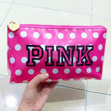 victoria s secret pink dot cosmetic bag make up smartphone vs