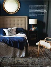 love this blue blue and gold bedroom