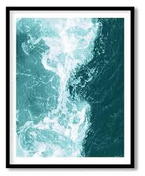 coastal wall art print teal turquoise