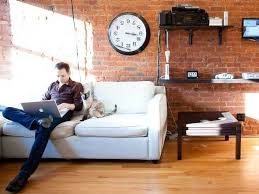 work home business hours image. Man Working From Home Work Business Hours Image N