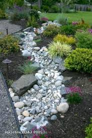 river rock dry creek bed design unique riverbed landscaping ideas on photos  designs