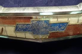 All Chevy blue chevy bowtie emblem : 1956 Chevrolet hood emblem Blue Bowtie , P-3721309-C