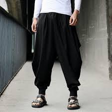 <b>Plus</b> Size Cotton Linen Harem Pants Men Baggy Pants <b>Japanese</b> ...