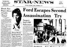 Image result for President Gerald Ford survives an assassination attempt