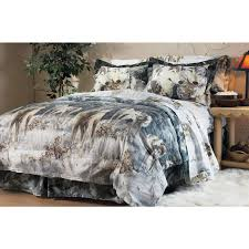gray wolf pack bed in a bag comforter set