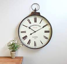 pocket watch vintage wall clock brass