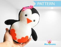 Plush Pattern Gorgeous Baby Penguin Sewing Pattern A48 The Pattern Hub Felt Toy Sewing
