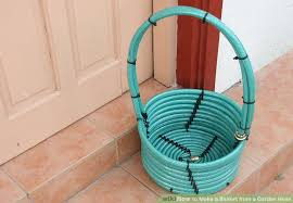 image titled make a basket from a garden hose step 1