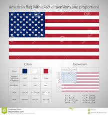 american flag with exact dimensions stock vector ilration of american backdrop 55977563