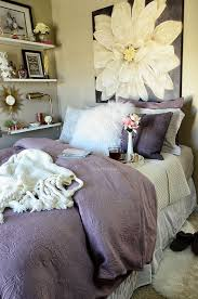 guest room amethyst west elm bedding with ikea ekby shelves at tidymom net