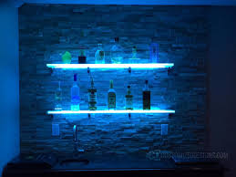 Floating Bar Shelves With Lights Lighted Display Shelving For Bars Nightclubs Restaurants
