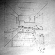 kitchen drawing perspective.  Kitchen Kitchen By 1 Point Perspective Drawing One  Kitchenkrazykohla On Deviantart For