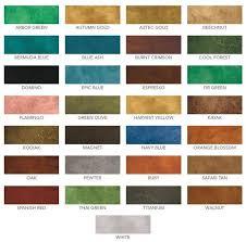 Surecrete Metallic Epoxy Color Chart Www Bedowntowndaytona Com