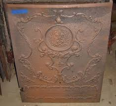 2875 antique cast iron fireplace insert