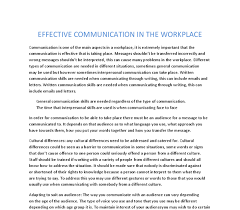 effective communication in the workplace a level ict marked document image preview