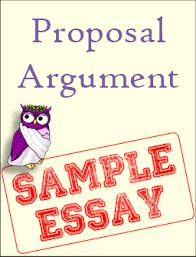 sample proposal argument excelsior college owl